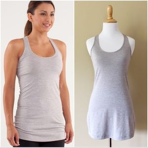 Lululemon | Cool Racerback Extra Long silver tank